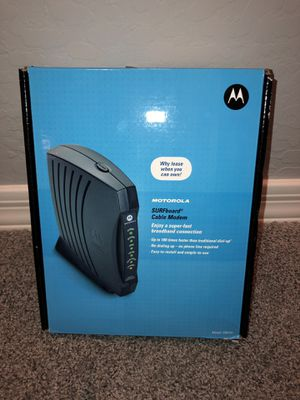 Motorola Surfboard Cable Modem for sale for Sale in Phoenix, AZ