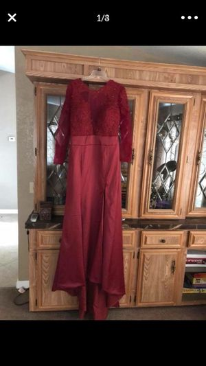 Burgundy prom gown brides maid dress for Sale in Cleveland, OH