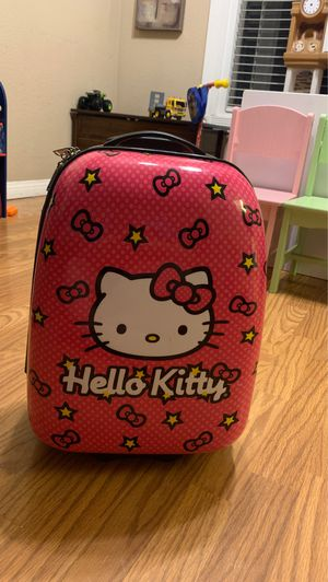 kids hello kitty rolling suit case for Sale in Riverside, CA