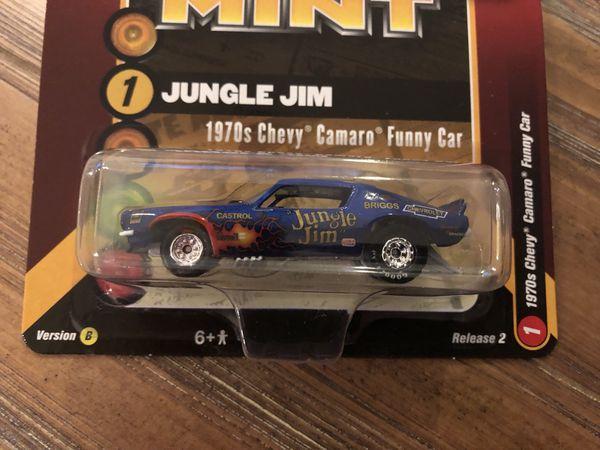 "1970 Chevrolet Camaro Funny Car ""Jungle Jim"" Blue with Flames"