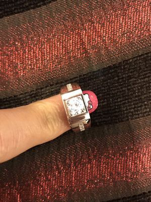Unisex Stamped 925 Sterling Silver Square Cut Diamond Ring- Code Lq10 for Sale in Columbus, OH