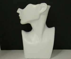 Large Ceramic Half Round Face Flower Pot White Figure Sculpture vase 12 in tall for Sale in Glendale, CA