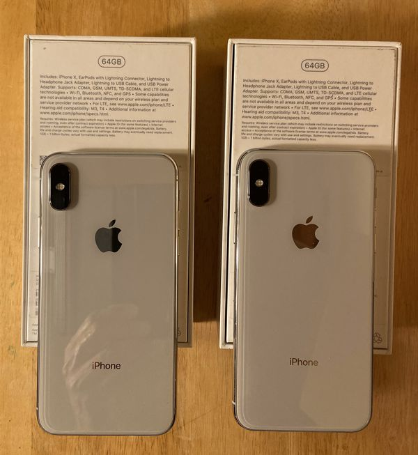 iPhone X (Good as new) 64GB. Selling for $520 each.