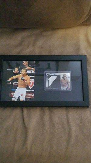 Urijah Faber framed photo and authentic event used octagon mat card for Sale in Charlotte, NC