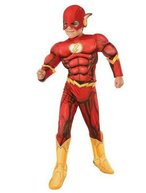 NEW Superhero Justice League THE FLASH Childs Boys Muscle Chest Halloween Costume Size Large 12-14 (8-10 Yrs) - See Description for Details for Sale in Largo, FL