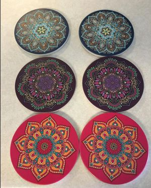 6 pcs - Home Decor Coasters - Absorbent Coaster for Drinks for Sale in Dyersburg, TN