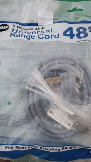3 prong straight universal range cord for Sale in Rossville, GA
