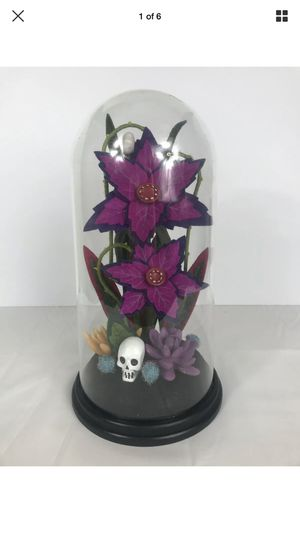 Rare Hyde & Eek Faux Creepy Succulent Plant in Cloche Target Halloween Terranium for Sale in Peoria, IL