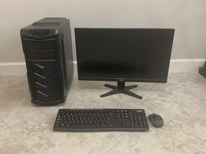 Custom Computer w/ Monitor, Keyboard and Mouse for Sale in Riverview, FL