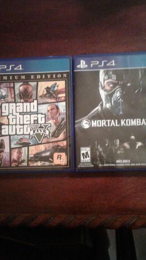 Mortal Kombat 10 + Grand theft auto 5 for Sale in Fort Lauderdale, FL
