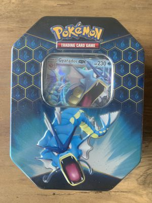 Pokemon Hidden Fates Gyarados-GX Tin (Brand New / Factory Sealed) for Sale in Pinellas Park, FL