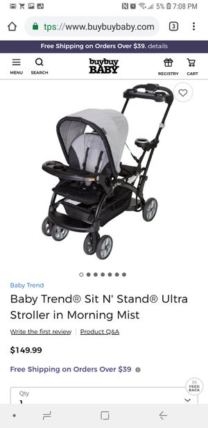 Stroller Baby Trend Sit N Stand stroller for 2 for Sale in North Las Vegas, NV