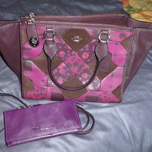 Coach Purple Patchwork Carryall Crosby Bag & Wallet for Sale in Northumberland, PA