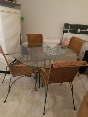 Wicker Iron Dining Set for Sale in Atlanta, GA