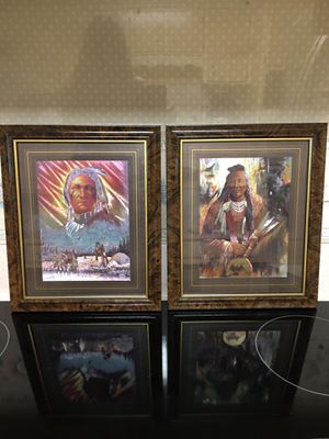 2 beautiful Indian pictures 9x11 for Sale in Milton, FL