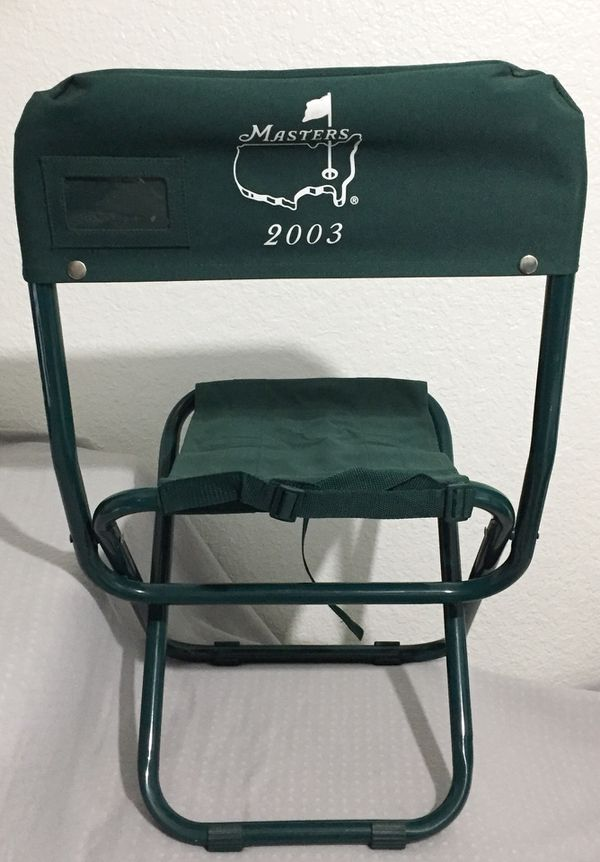 Augusta Masters Folding Portable Chair 2003 Moving Sale