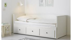 Ikea Hemmes bed twin/ king white captain daybed normal wear for Sale in Seattle, WA