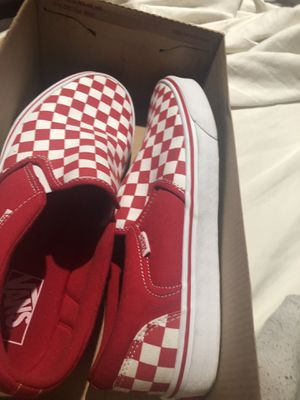 Red and white Checkered Vans size 10.5 for Sale in Tallahassee, FL