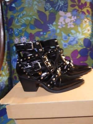 New Sam Edelman Black Leather Studded Boots for Sale in St. Louis, MO