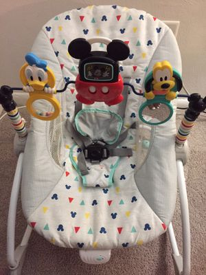 Mickey Mouse Rocking Chair and Baby Carrier for Sale in Richmond, VA