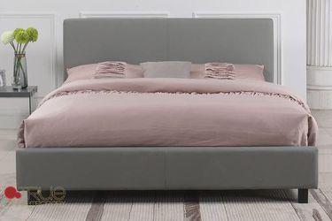 Grey upholstered queen bed for Sale in Prattville,  AL