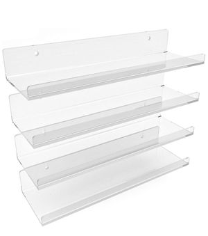 YorkZille Clear Acrylic Shelves Wall Mounted - 15 Inch (4 Pack) for Sale in Los Angeles, CA
