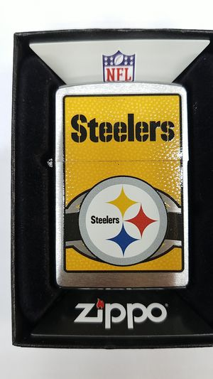 Zippo NFL Pittsburgh Steelers brushed chrome 24632 for Sale in Los Angeles, CA
