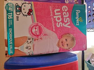Pampers pull ups 3t-4t has 116 +1 pampers wipe $40 or trade for 4 enfamil cans no less thank you for Sale in Perris, CA