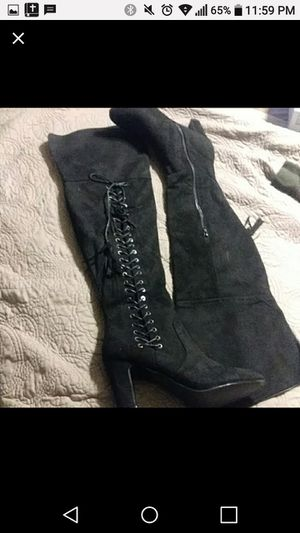 Knee high lace up boots for Sale in St. Louis, MO