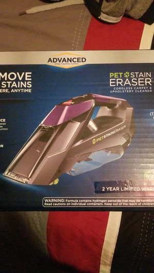 NEW! BISSELL Pet Stain Eraser [Portable cordless carpet and upholstery cleaner] for Sale in San Diego, CA