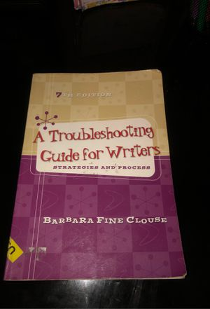 A troubleshooting guide for writers 7th edition for Sale in Fontana, CA