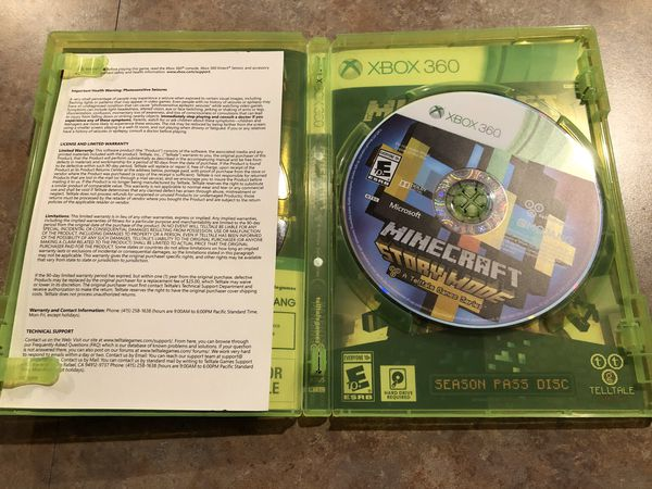 XBOX 360 Minecraft Story Mode Video Game