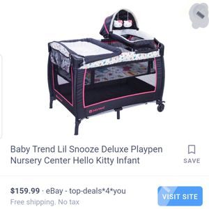 Baby trend Hello Kitty crib with bassinet for Sale in Spring, TX