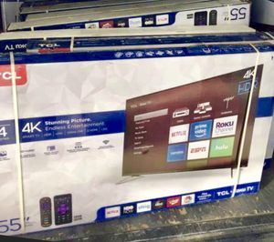 "55"" TCL 4K HDR 4K ROKU SMART TV for Sale in Corona, CA"