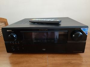 Denon Receiver. 5 Speakers, Bose Center channel , Boston Accuse 10 inch Subwoofer for Sale in Blackstone, MA