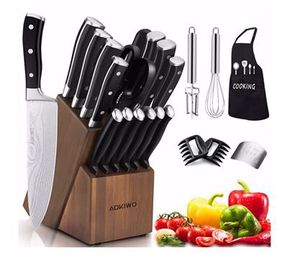 BRAND NEW 21-pieces German kitchen knife set with wooden block stainless steel for Sale in Anaheim, CA