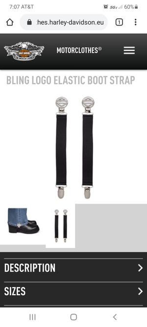 Harley Davidson boot straps for Sale in Smithton, PA