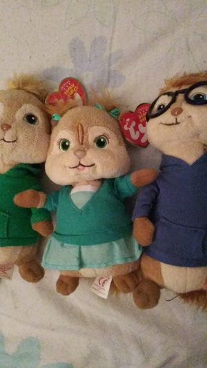 Alvin and the chipmunks beanie babies for Sale in Humble, TX