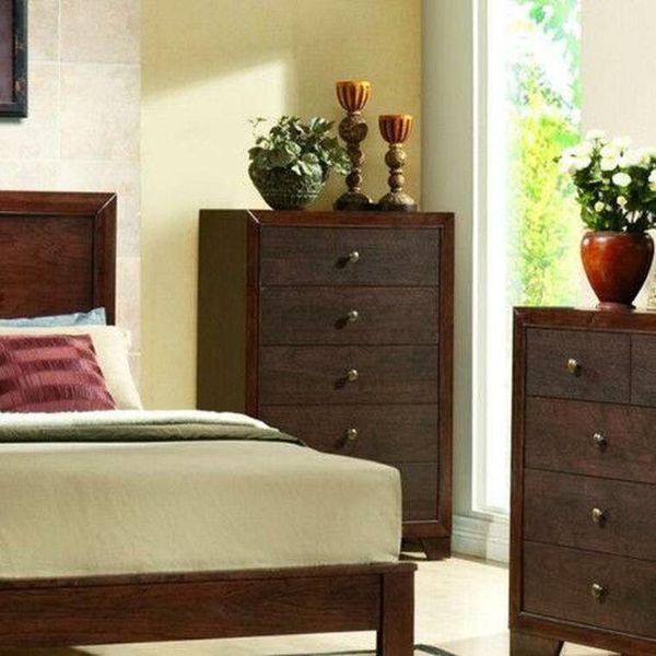 Home 5 Drawer Chest Dresser Storage Cabinet