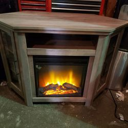 Electric Mantle Fireplace TV Stand - Delivery Available for Sale in Tacoma,  WA