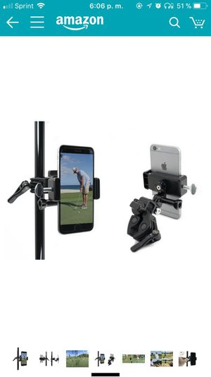 Golf Gadgets - Record your Putts on the Green From the Pin/Golf Flag Pole with This Universal Smartphone Mount. Compatible with any Phone, or GoPro H for Sale in Woodbridge, VA