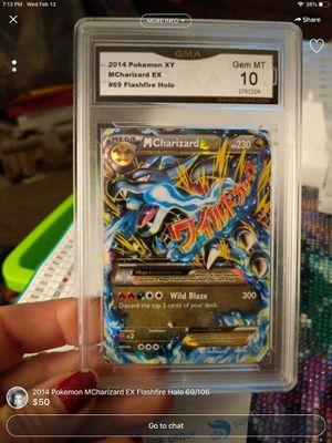 Gem mint 10 mega Charizard Pokémon card for Sale in Pekin, IL