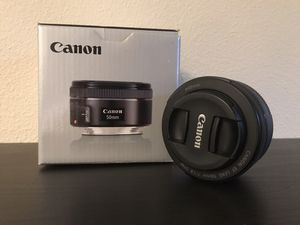Canon EF 50 1.8 STM Nifty Fifty Full Frame DSLR Camera Lens for Sale in Bellevue, WA
