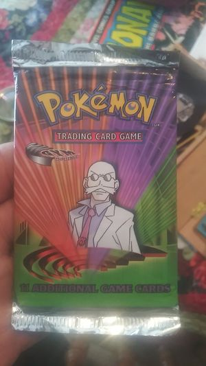 Pokemon trading cards unopened. Small tear in pic for Sale in Cherry Hill, NJ