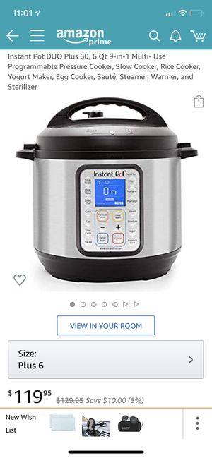 Instant pot pressure cooker for Sale in League City, TX