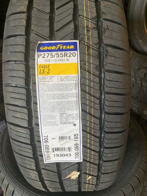 Brand New Tires 275/55R20 Goodyear Eagle LS2 $135 Each 8022 Ferguson Rd Dallas Tx 75228 for Sale in Dallas, TX