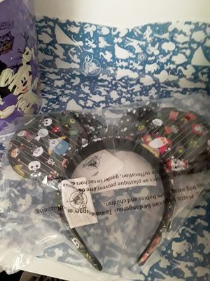 New Disney Minnie Ears Headband Chibi Nightmare Before Christmas for Sale in Irvine, CA