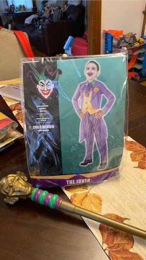 Joker kids medium costume and cane for Sale in Longmeadow, MA
