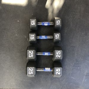 Pair Of 15lbs And 25lbs Dumbbells for Sale in Los Angeles, CA