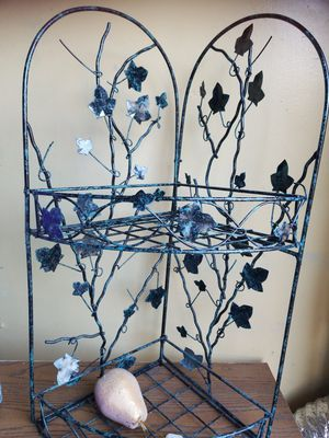 Vintage 2-Tier Foldable Corner Plant Stand.Used for Sale in St. Louis, MO
